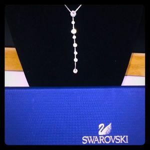 Floating stone Swarovski pendant and necklace